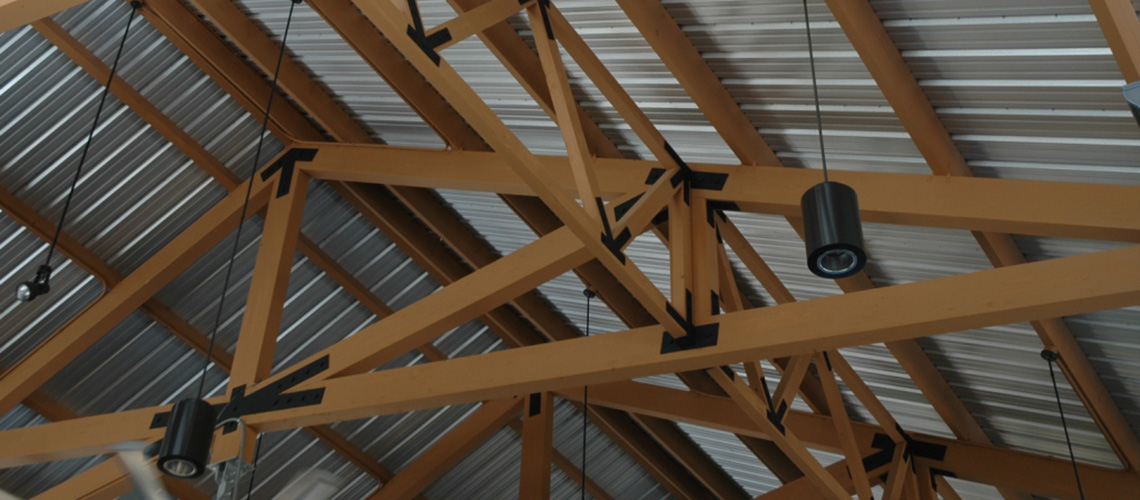 Laminated wooden truss this sq ft visitors centre